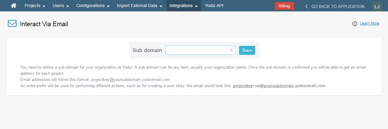 Interact-Via-Email-Subdomain