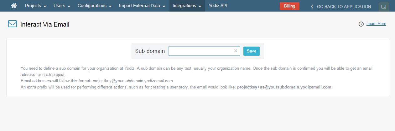 Interact-Via-Email-Subdomain