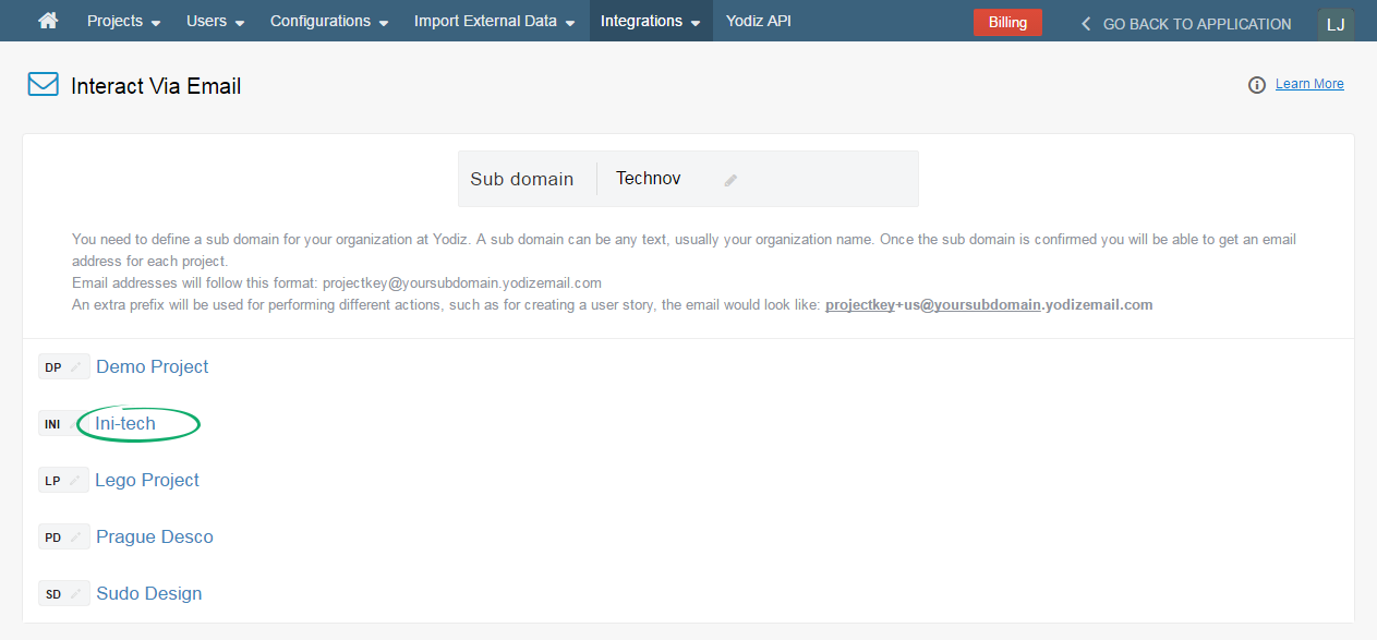 Select-Project-For-Interact-Via-Email