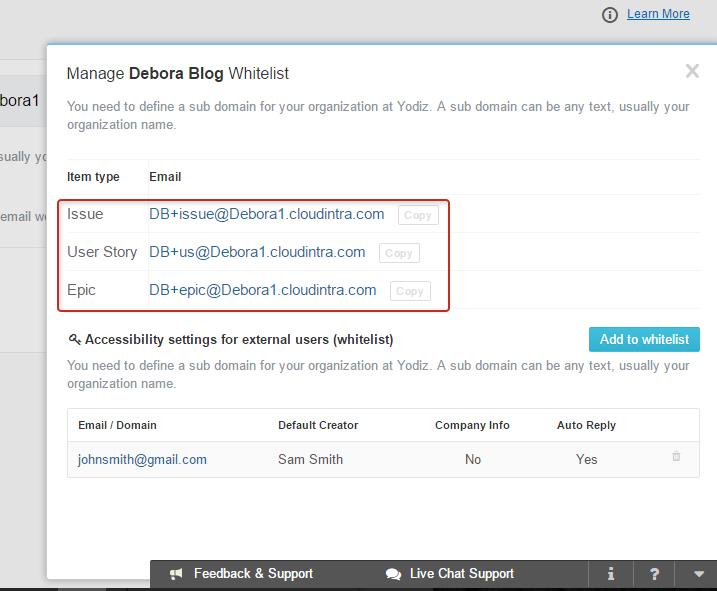 Yodiz_IVE_Project_Whitelist_Format_of_Email_Address