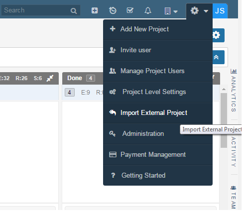 Jira-Import-In-Yodiz-import-External-Project