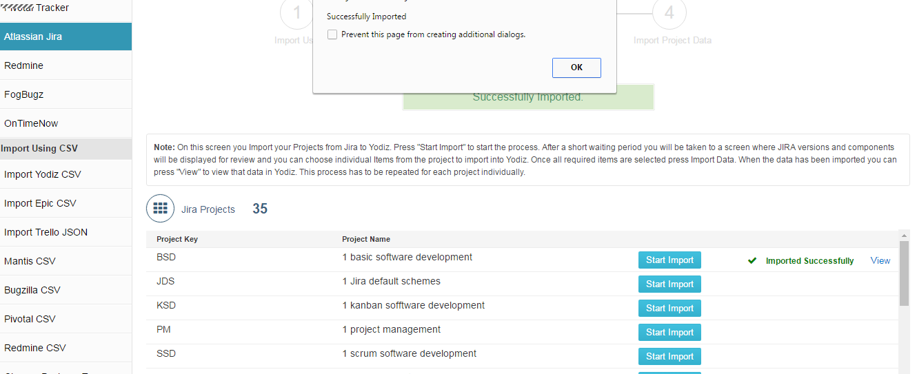 Project-Imported-Successfully-From-Jira