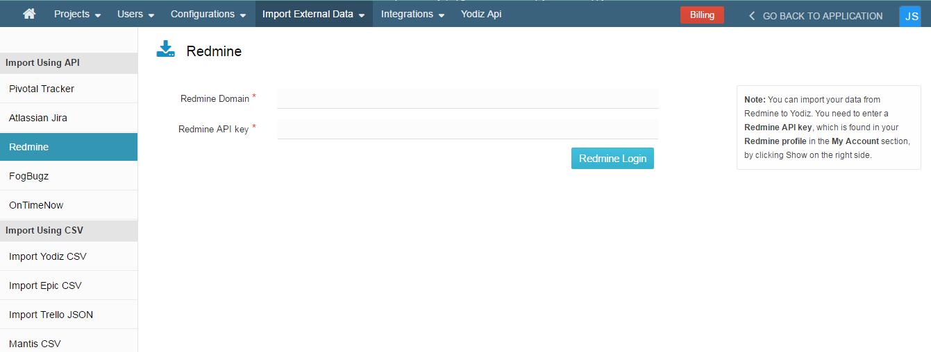 redmine-user-log-in
