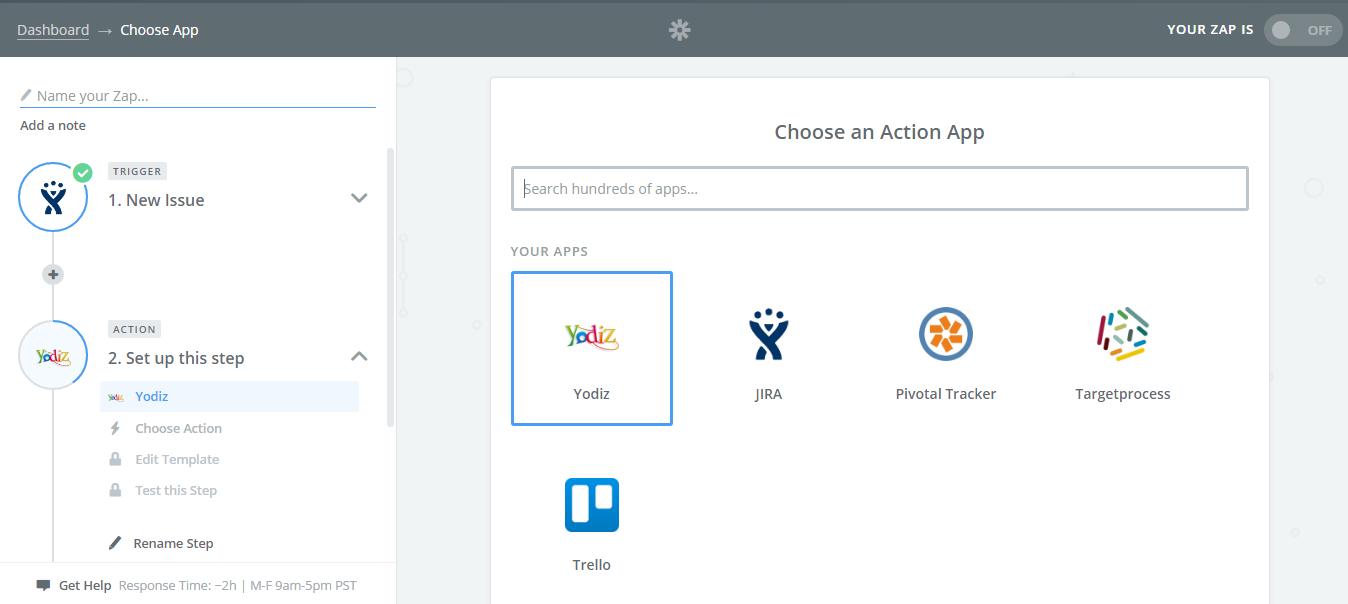 Choose-an-Action-App-Yodiz