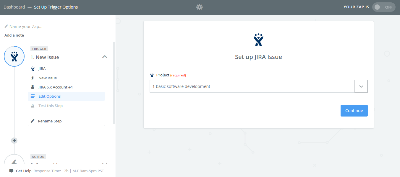 Select-the-Project-Setup-Jira-Issue