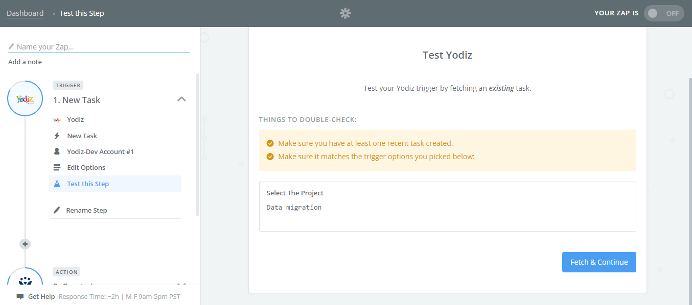 Select-the-Project-Test-Yodiz