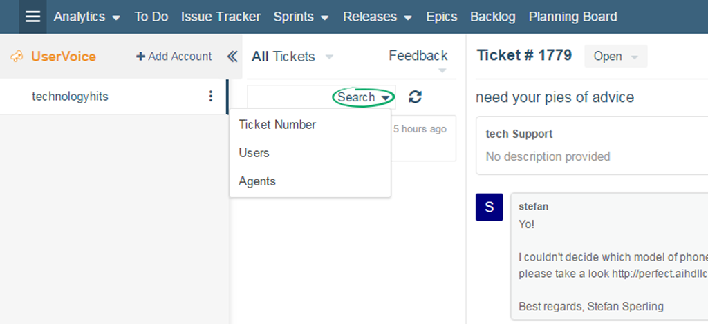 User-Voice-Search-Tickets