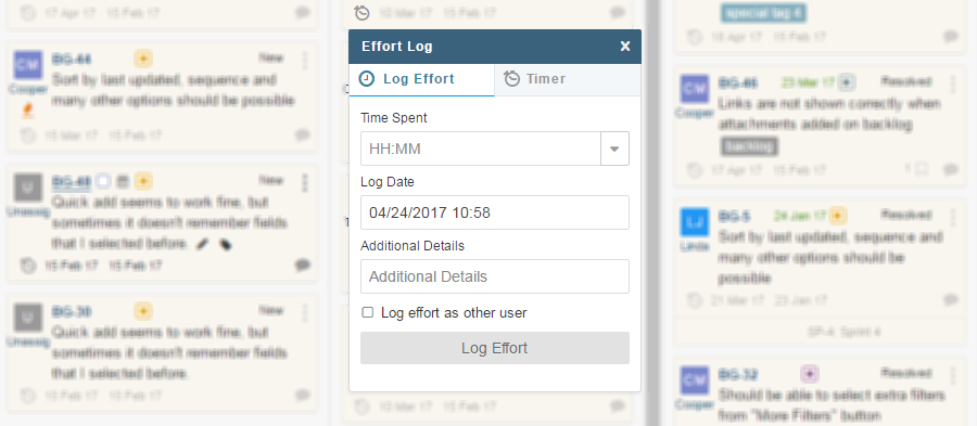Effort-Log