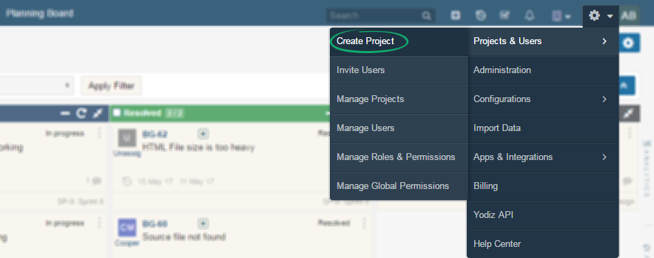 How-to-Create-Project-In-Yodiz