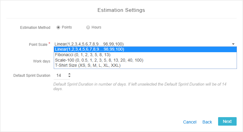 Estimation-Setting