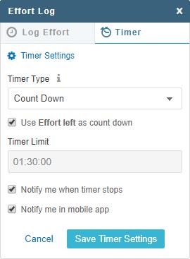 Effort-Log-Timer