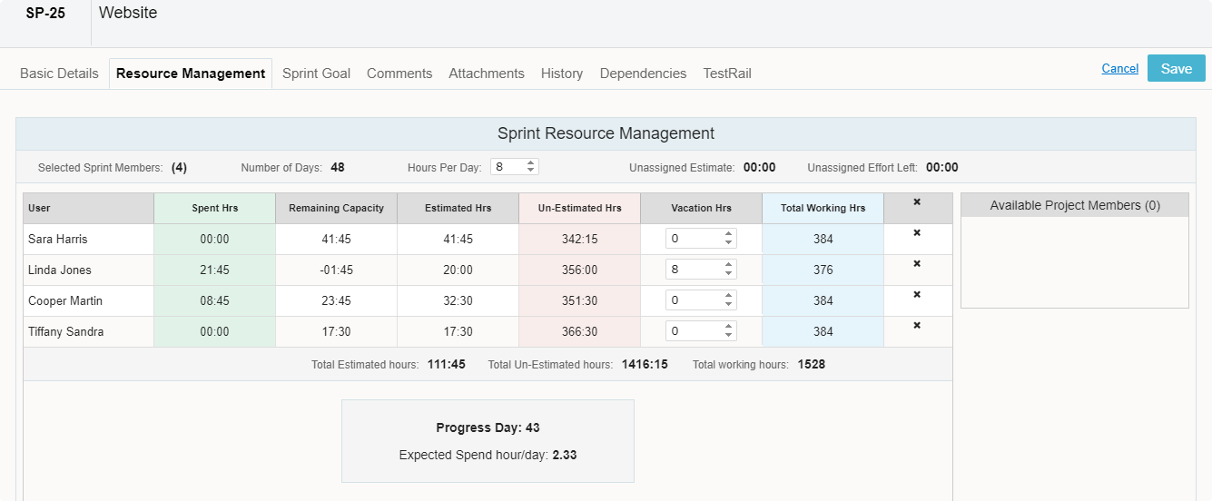 Sprint-Resource-Management
