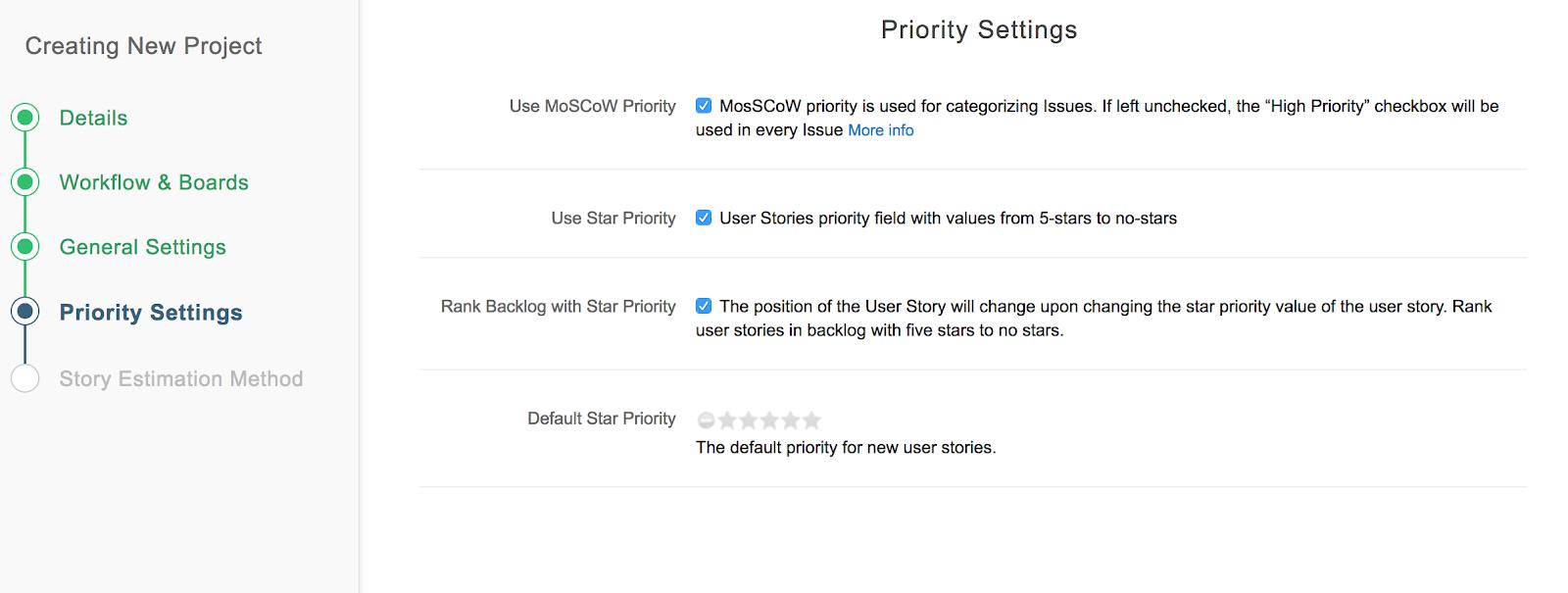 Priority-settings