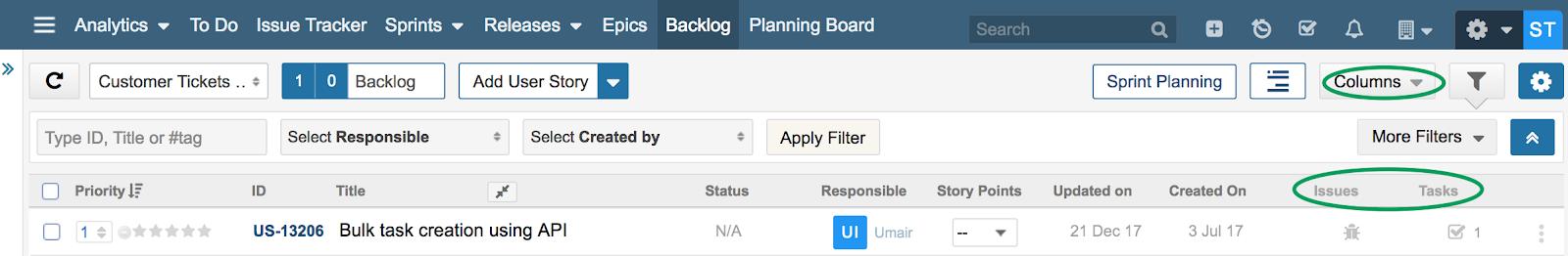 Backlog-Tasks