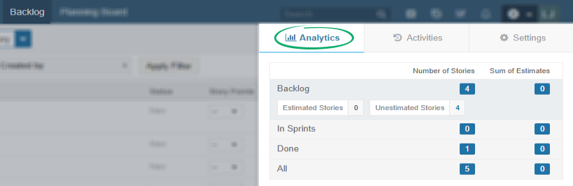 Backlog-analytics-filters