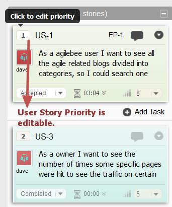 sprint user story